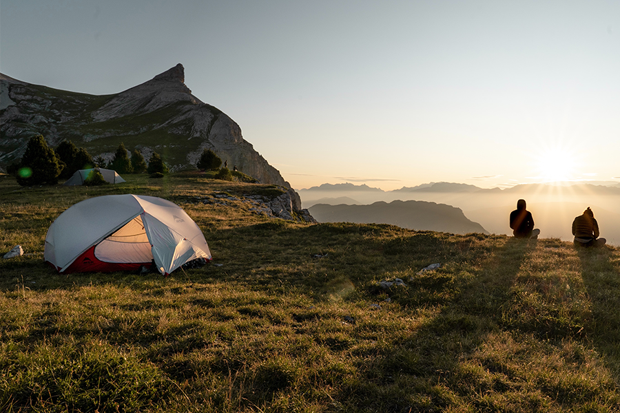 Finding-the-perfect-tent camping spot.