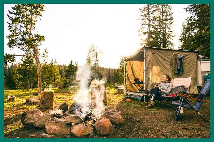 Camping Tents with Fixed Room Dividers